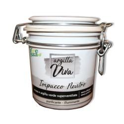 Argilla viva – Impacco neutro multiuso all'argilla: dermo-purificante, rassodante ed antiedematosa – 350 ml