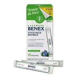 NATURAL BENEX BEVIBILE - Favorisce la corretta funzionalità del microcircolo e apporta benessere alle gambe - 15 Stick pack