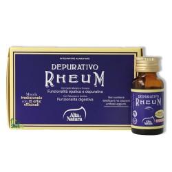 DEPURATIVO RHEUM – Eccellente depurativo-disintossicante. Favorisce il benessere dell'intero organismo - 8 flaconcini da 10 ml