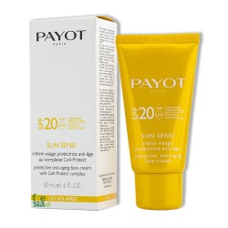 Payot – Sun Sensi - Crème visage SPF 20 protectice anti-age au complexe Cell-Protect – 50 ml