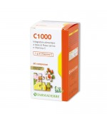 C 1000 - Valido antiallergico. Combatte i sintomi da raffreddamento e aumenta le difese - 60 compresse