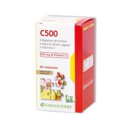 C 500 - Efficace antistaminico e antinfiammatorio naturale. Rinforza i vasi sanguigni - 60 compresse