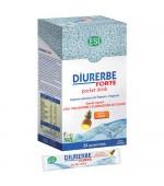 DIURERBE FORTE POCKET DRINK gusto ananas – Prodotto ideale per favorire l'eliminazione dei liquidi in eccesso – 24 bustine da 20 ml