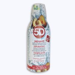 5D DEPURADREN PESCA – Bevanda tonica che favorisce l'eliminazione dei liquidi in eccesso e la riduzione del gonfiore - 500 ml